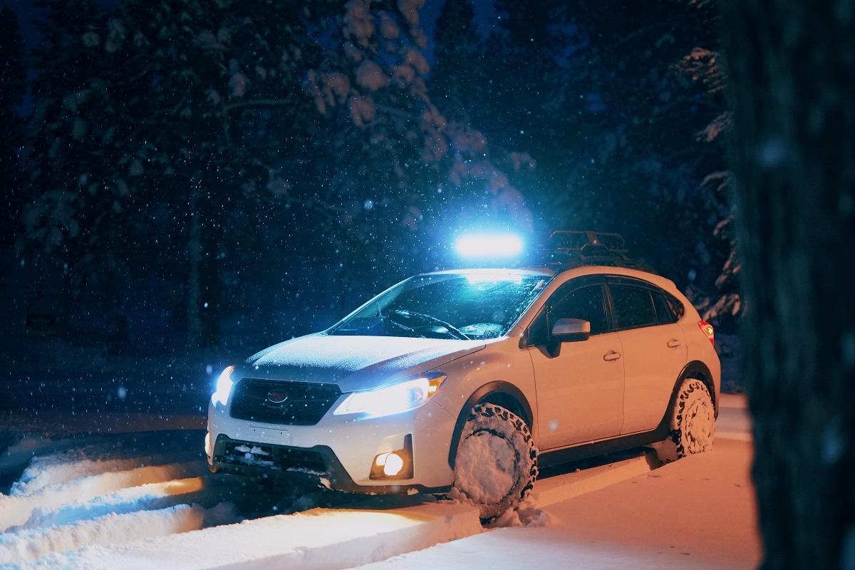 Auto w czasie zimy